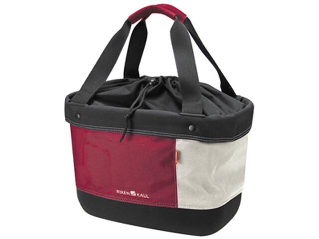 KlickFix Shopper Alingo Bike Bag red/creme